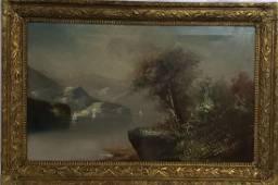 LG Hudson River School Landscape Painting 19 c