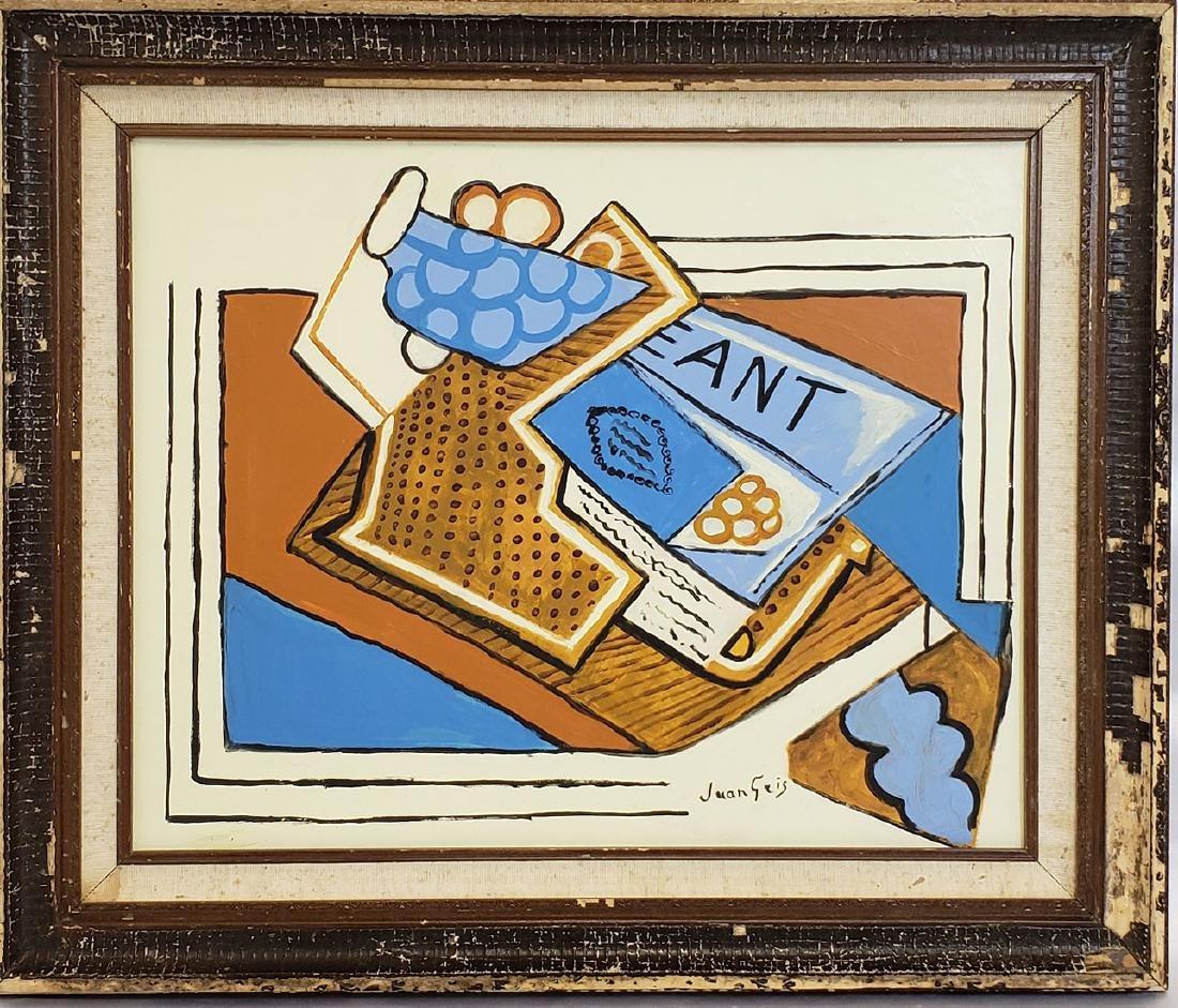 Oil on Board signed Juan Gris  (1887 - 1927)
