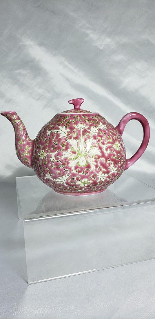 Vintage Chinese Famille Rose Porcelain Tea Pot