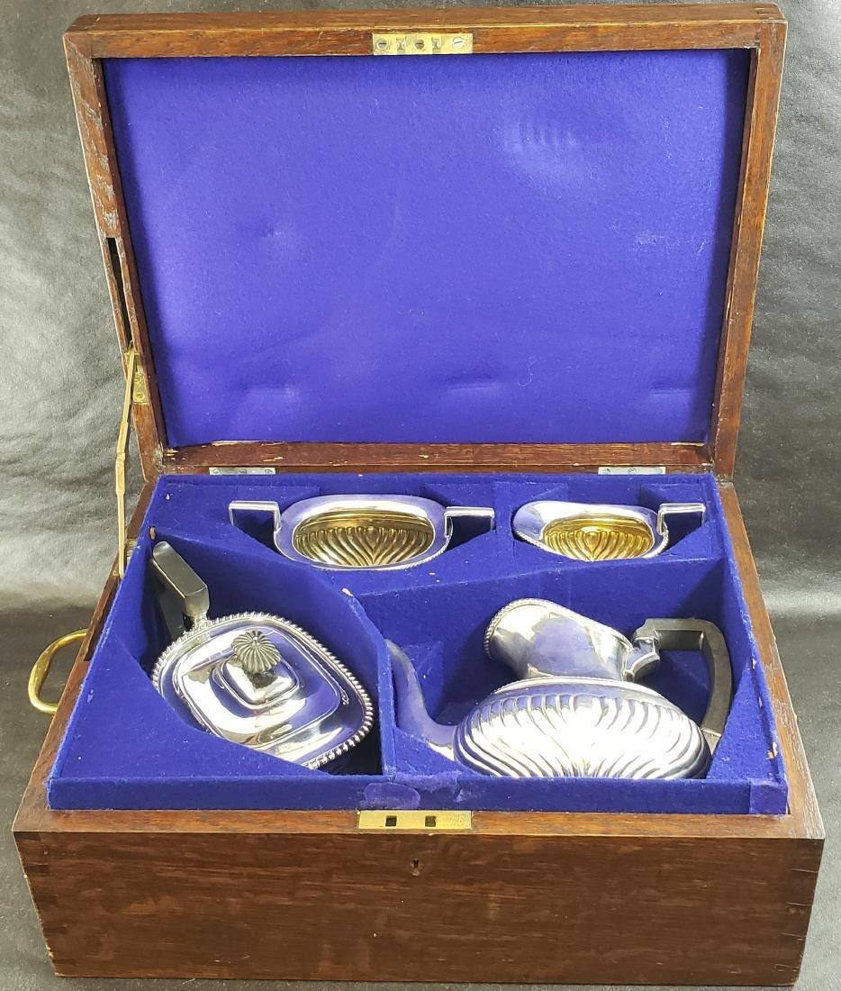 William & George Sissons Sterling Tea Set In Box  2000G