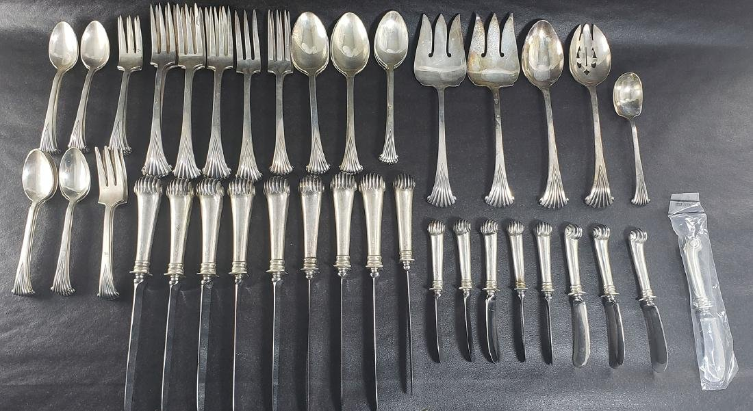 "Tuttle ""Onslow"" Pattern Silver Flatware 54 Pcs"
