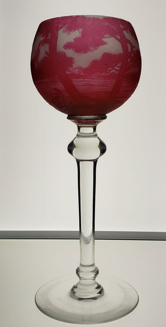 ABP Signed Richard Cameo Glass Rhine Wine