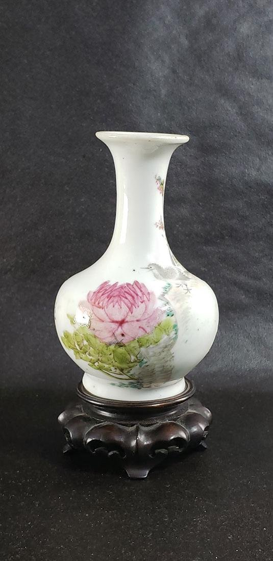 Antique Chinese Famille Rose Vase w/ Mark