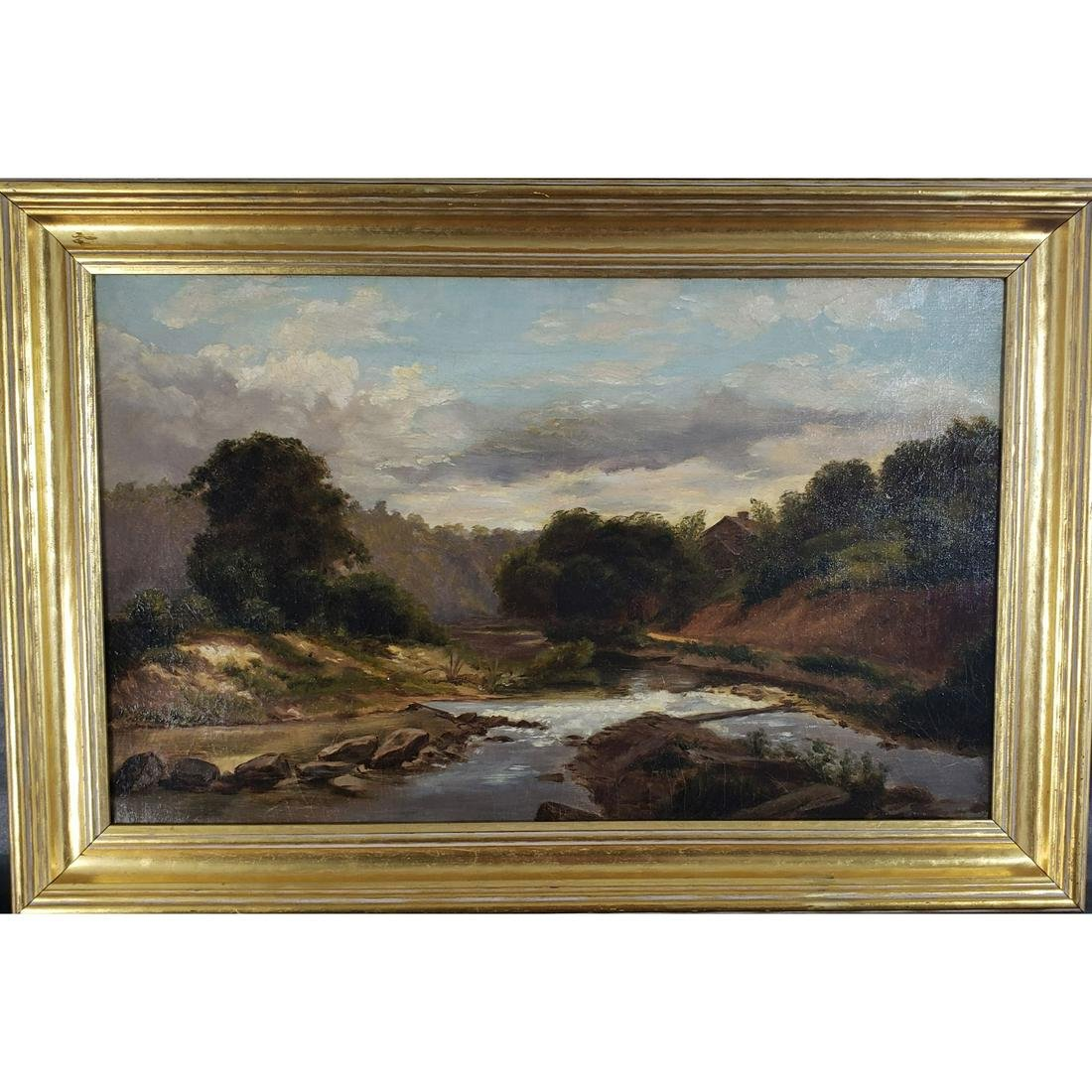 19th Century O/C Hudson Valley?  Landscape Painting