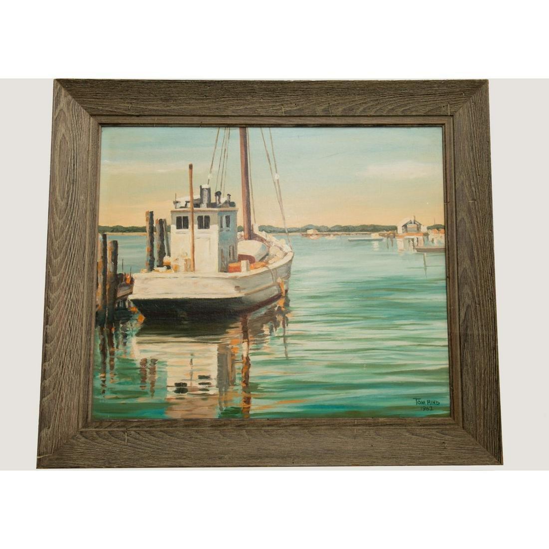 Original Signed O/B Florida Landscape Harbor Sc