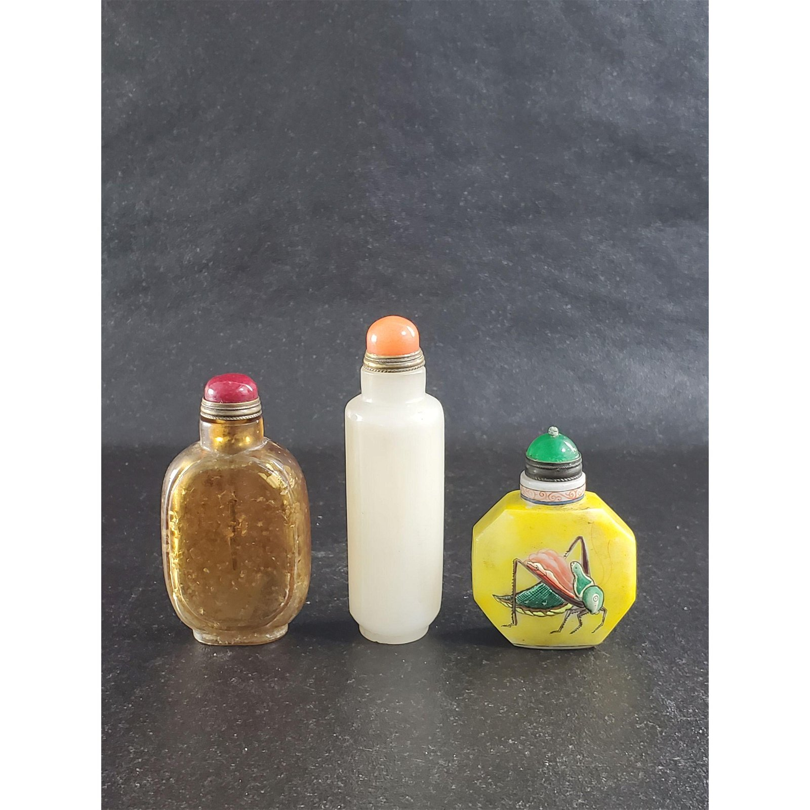Lot of 3 Chinese Snuff Bottles