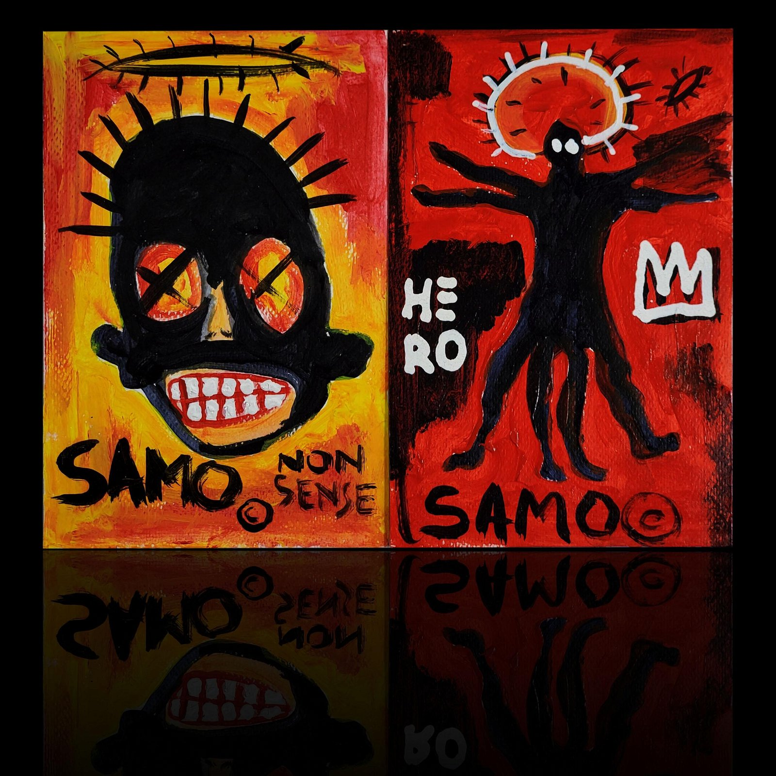 2 Jean-Michel Basquiat  1960-1988  Paintings (SAMO)**