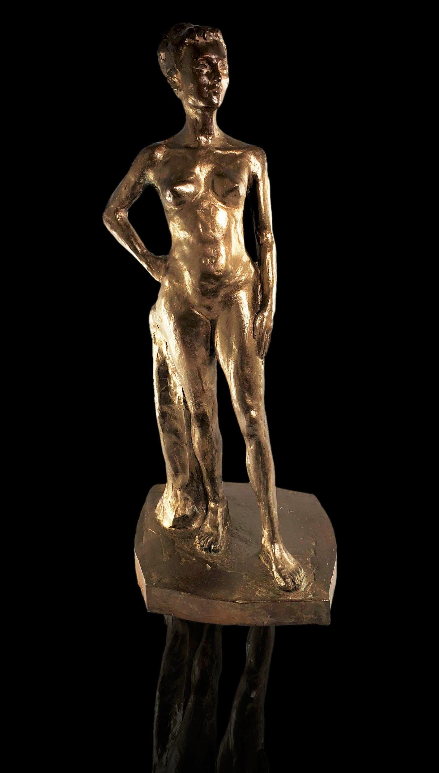 Albert Terry 1965 Nude Bronze sculpture with foundry**