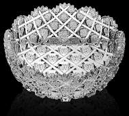 Rare Signed Egginton cut glass TRELLIS pattern bowl