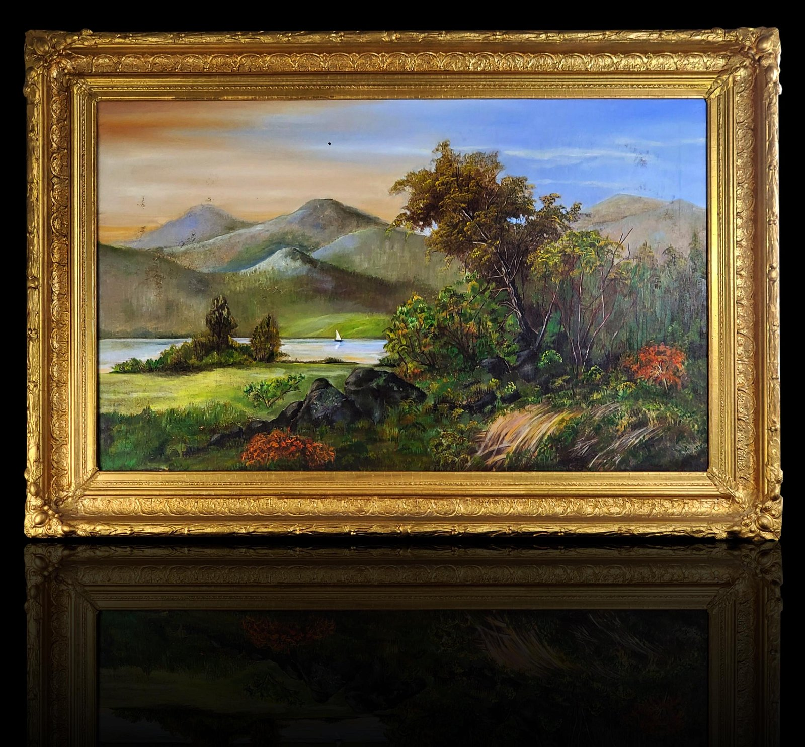 19th Century Hudson River School American Oil Painting