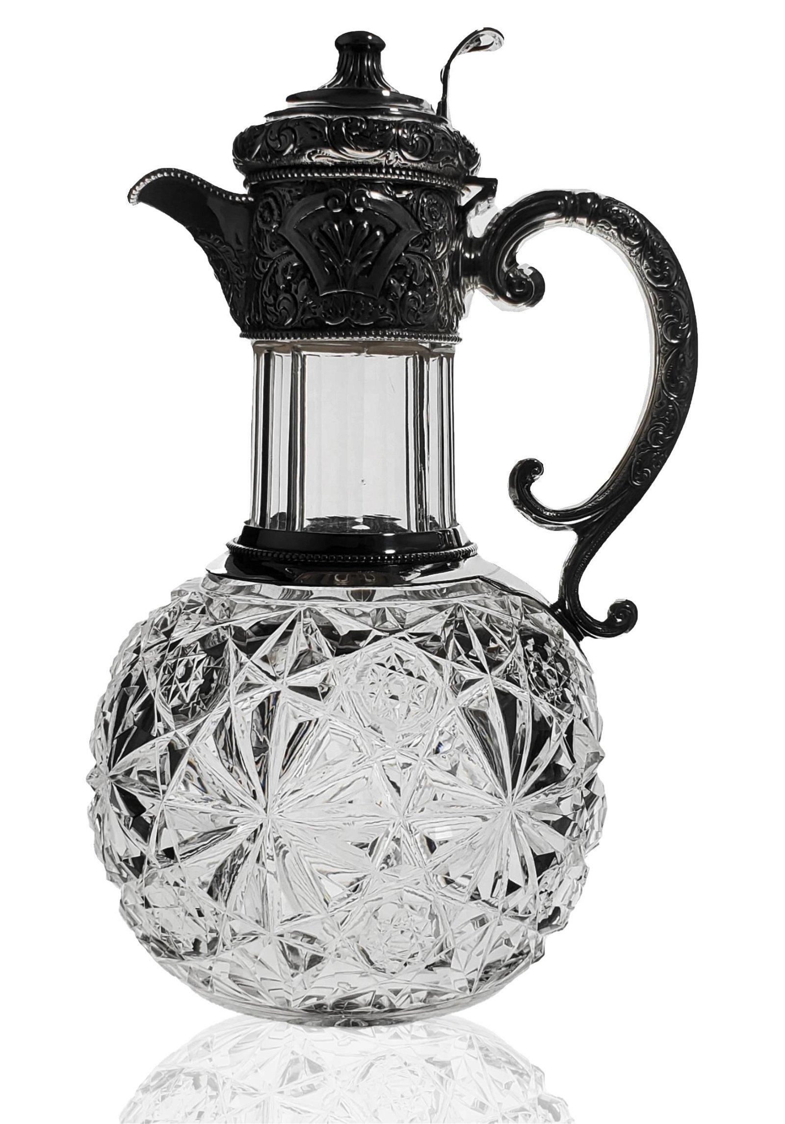 ABP cut glass ewer cut in a RUSSIAN PERSIAN variation