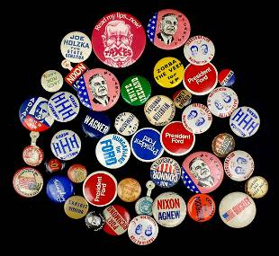 Grouping of vintage Political Pins 1