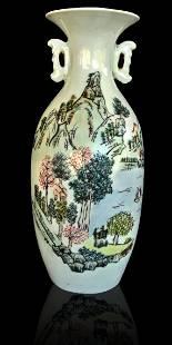 Chinese porcelain famille rose vase 19th c