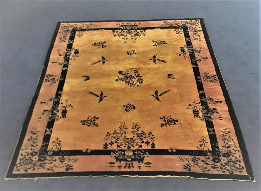 A very fine Chinese rug 19-20th Century