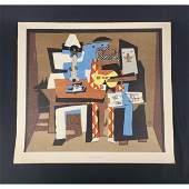 Pablo Picasso Lithograph three musicians