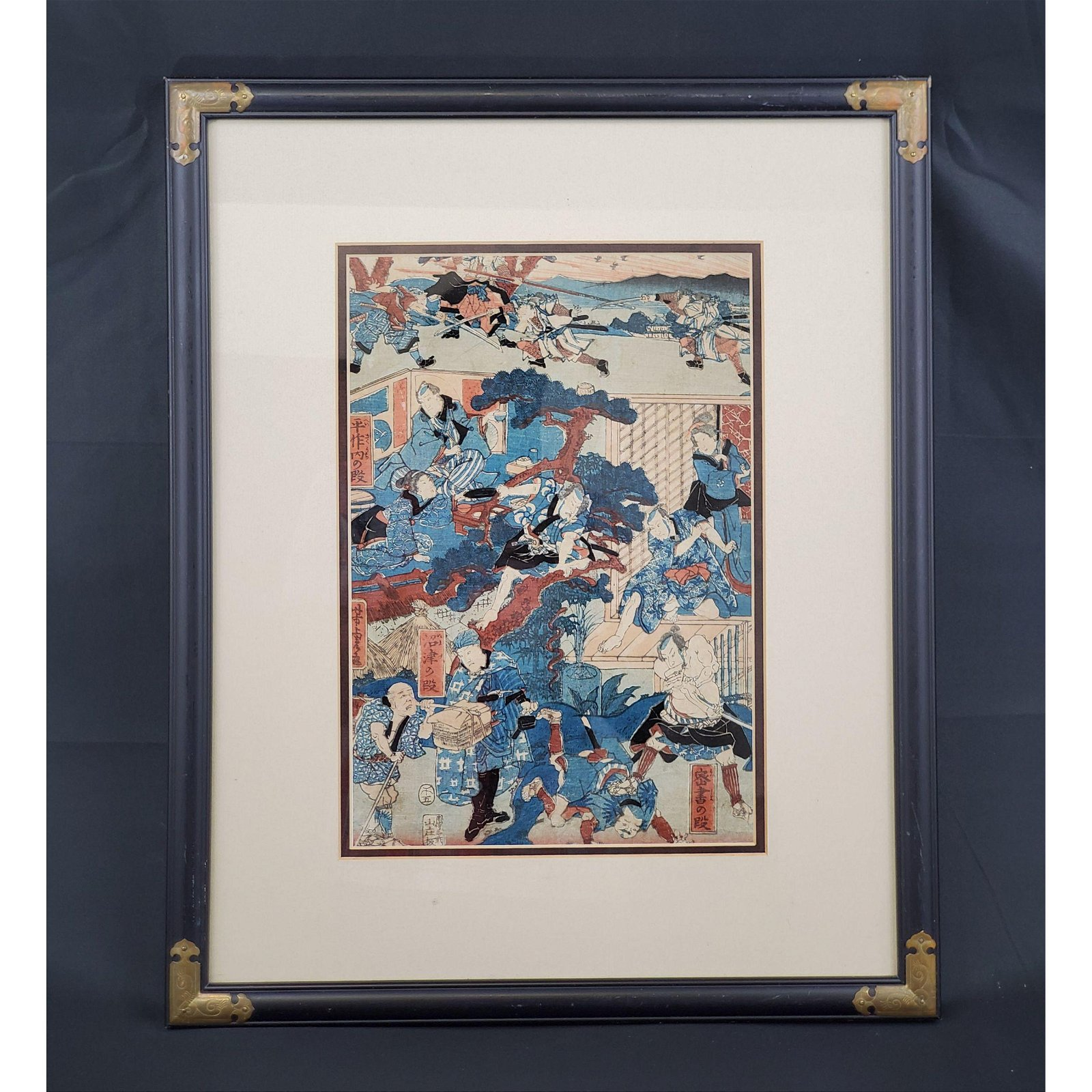 Signed Utagawa Yoshitora woodblock print active 1830-87