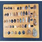 Native American Artifact Arrowhead Points 60 Pcs