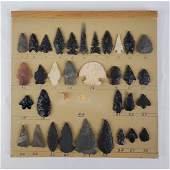 Native American Artifact Arrowheads 33 Pcs