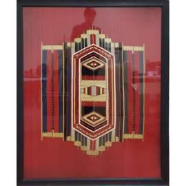Native American Navajo Chief's Saddle Blanket 1890-1900