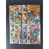 Lot Of 10 Vintage Marvel Comics Fantastic Four 20 Cents