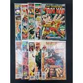 Lot Of 10 Vintage Marvel Comics The Invincible IRON MAN