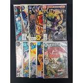 Lot Of 10 Vintage DC Comics Assorted Superman/Cat Woman