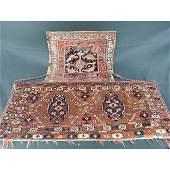 2 antique Persian Saddle Bags 19th c