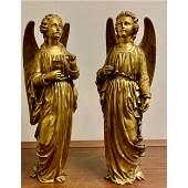 Magnificent & Rare, Museum-Quality Bronze Angels 18 C
