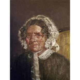 Antique Portrait Painting Signed Rembrandt 1638