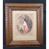 Antique Mezzotint of Lady Emma Hamilton By George R..