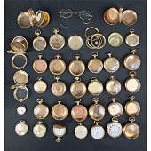 K Gold Gold Filled Pocket Watches  Cases