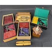 Various vintage watchmakers repair tools