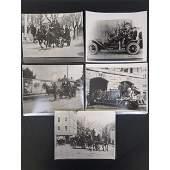 5 Vintage Black & White Photographs Fire Dept horse....