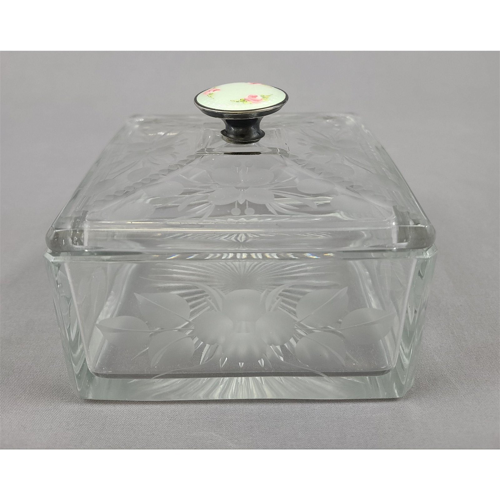 Antique Glass Dresser Box