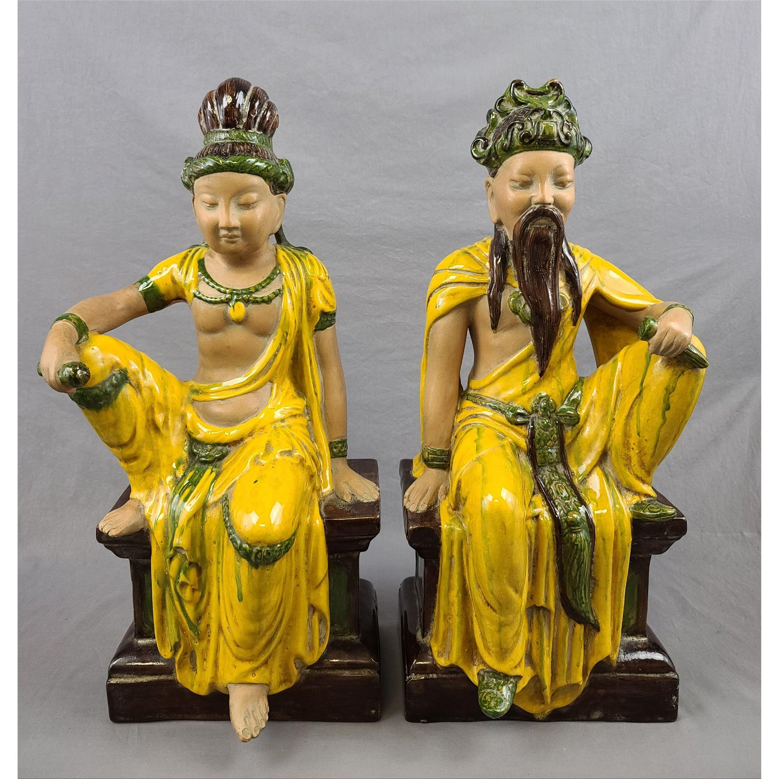 Pair Of Porcelain Chinese Figures ETHAN ALLEN