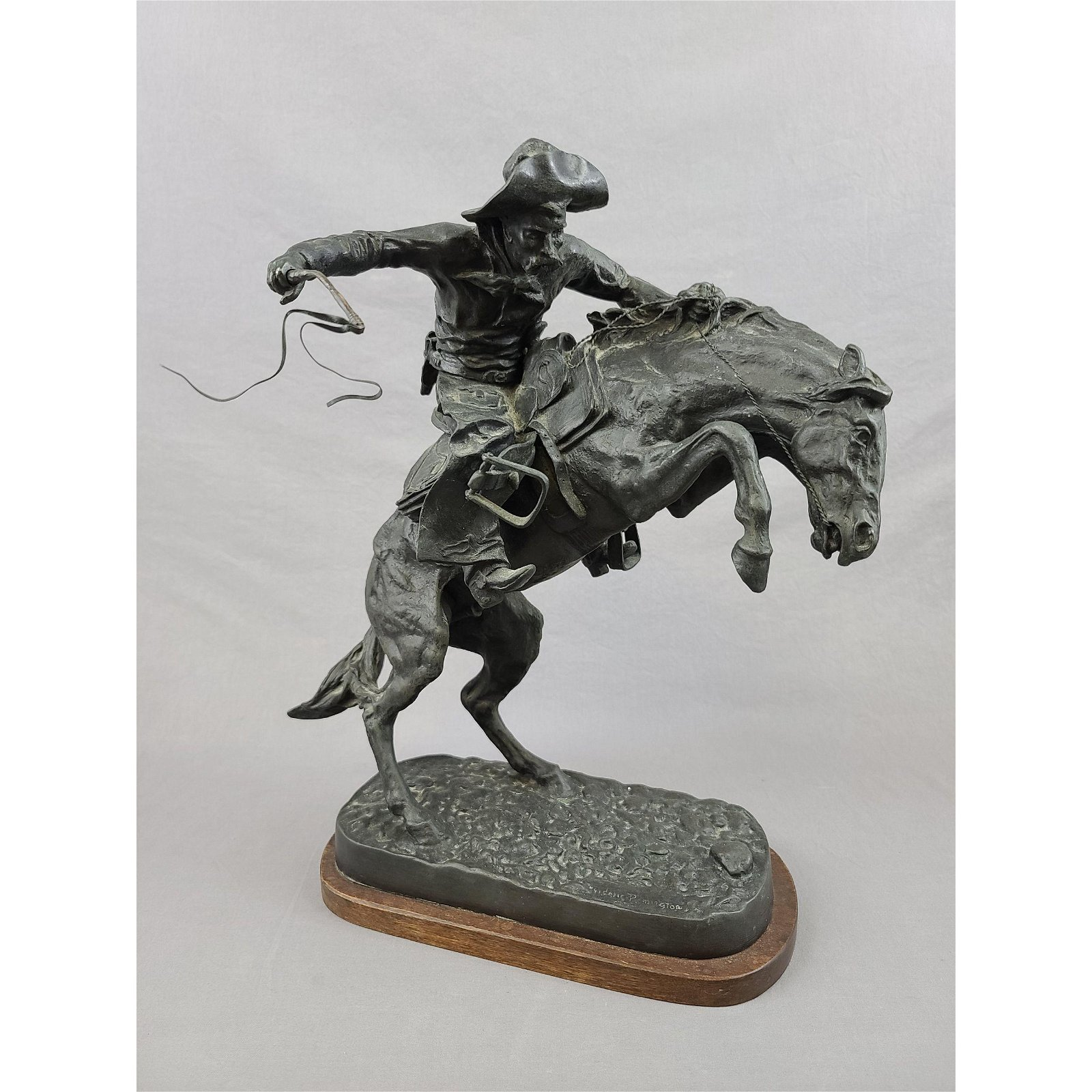 "REPLICA ""THE BRONCO BUSTER"" 1978 BRONZE SCULPTURE"