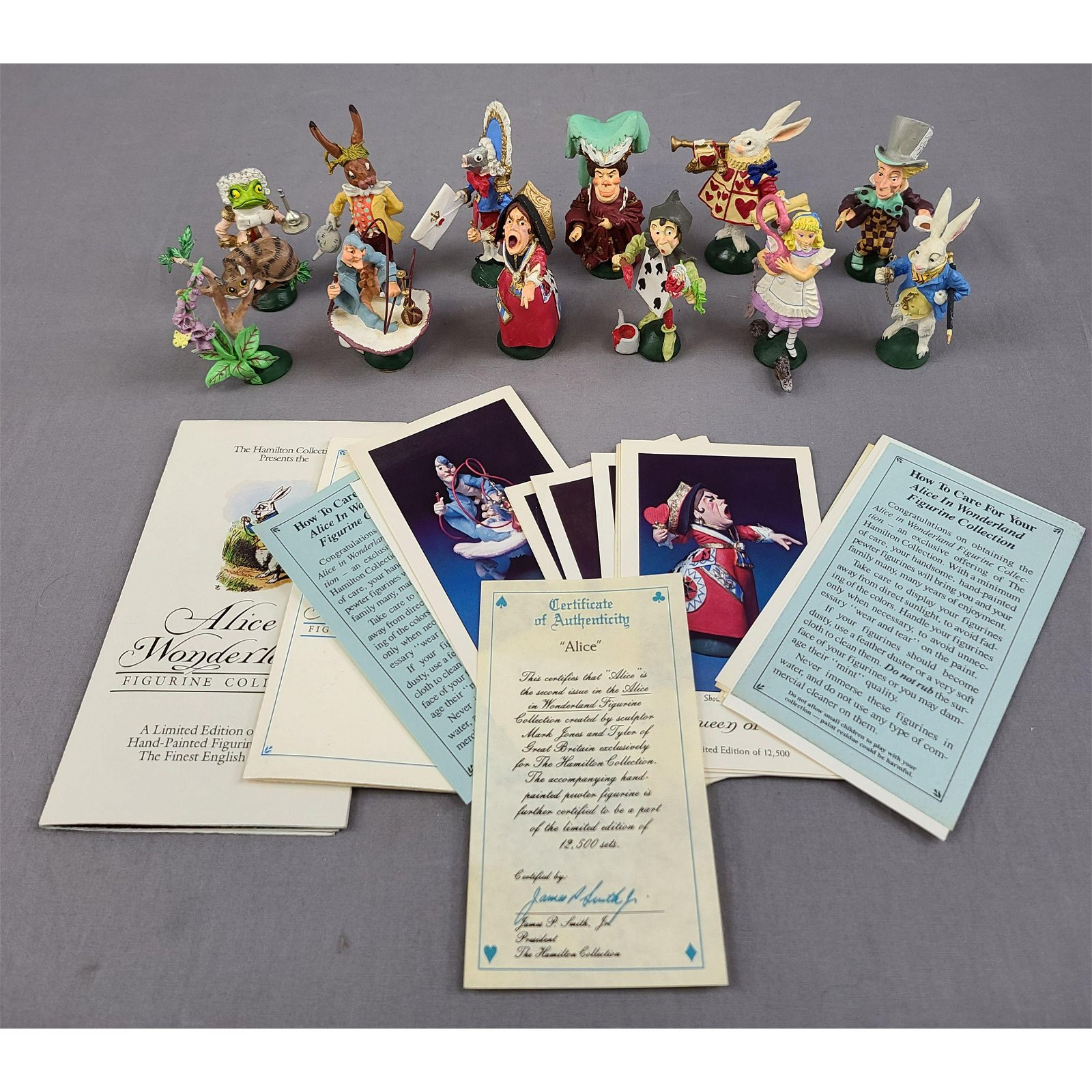Limited Edition Hand-Painted Pewter Figures