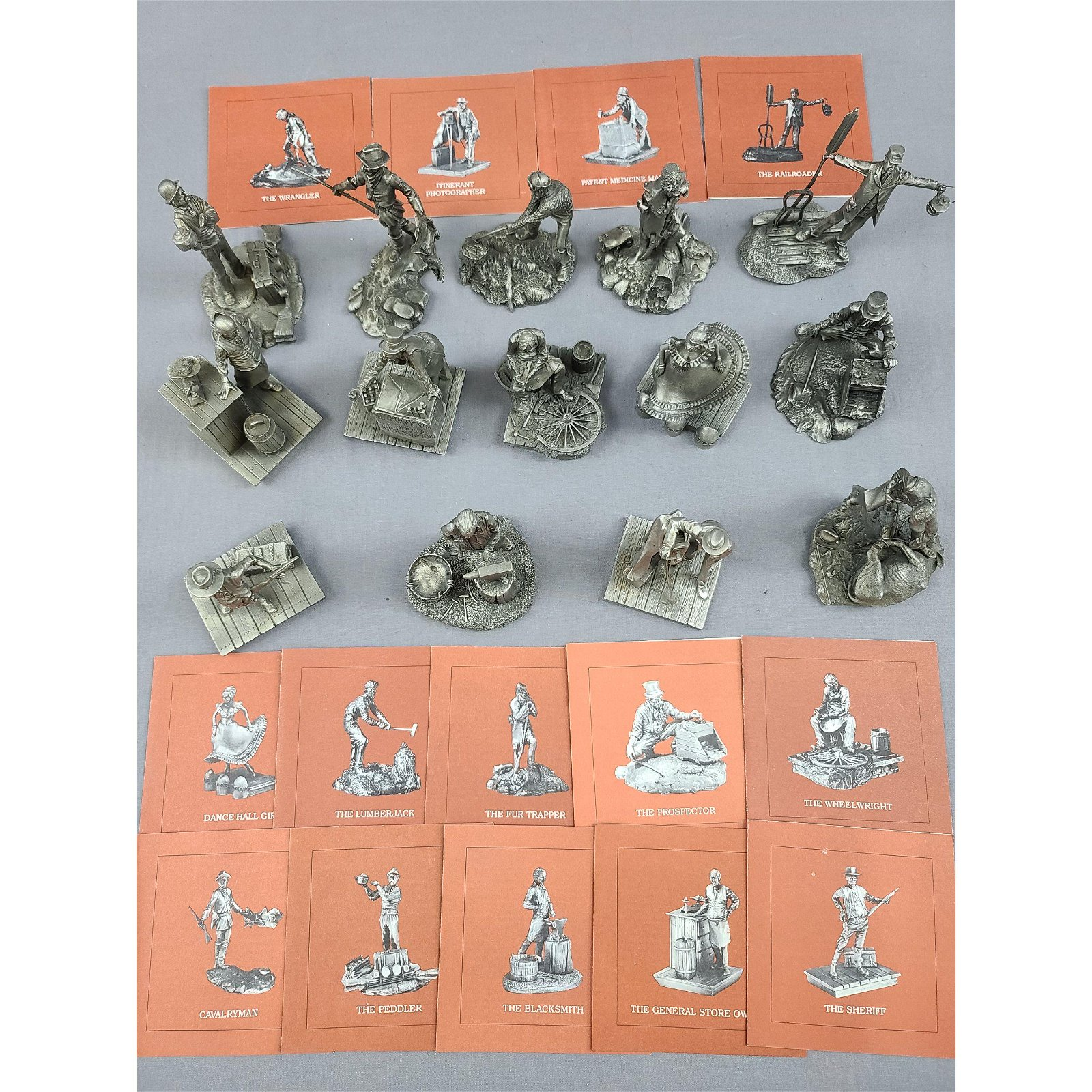 1981 Franklin Mint Pewter Collection