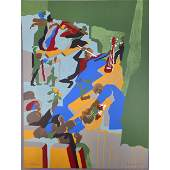 """Signed & Numbered Jacob Lawrence Lithograph 6/150"""""""