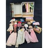 Vintage Barbie Doll Lot In A Case For Parts and restora