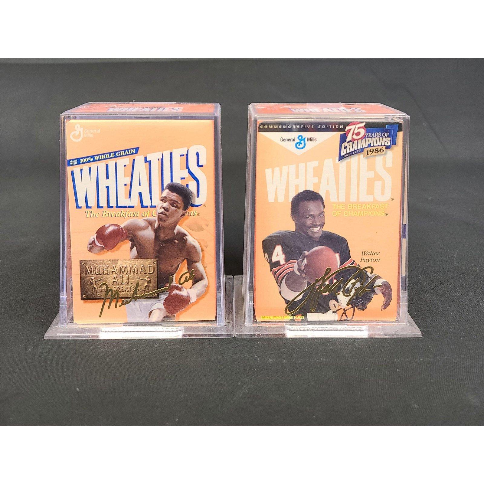 2 Collectible Wheaties 24K Gold Signature Muhammad Ali