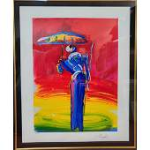 """Peter Max """" Sage With Umbrella"""" Hand Signed 112/350"""