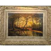 W. Livingston Anderson (1856-1893) Woodland Landscape