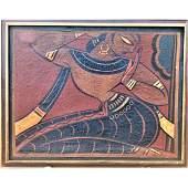 Jamini Roy 1887-1972 India (Gopini) Oil On Canvas