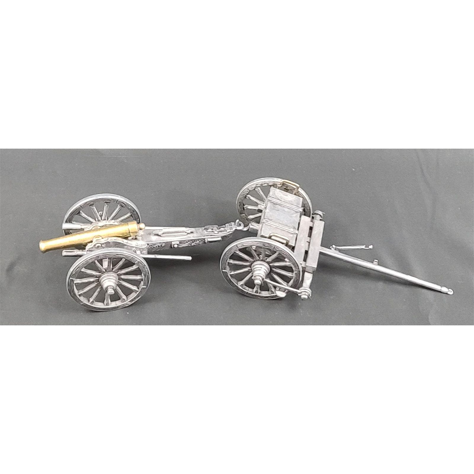 Metal Toy Cannon w/ Ammunition Pull Cart