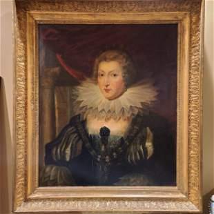 Sir Peter Paul Rubens Portrait Painting ANNE OF AUSTRIA