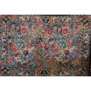 Large Antique Embroidered Handmade Rug