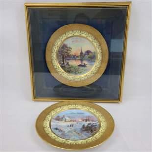 2 Hutschenreuther Plates One Framed