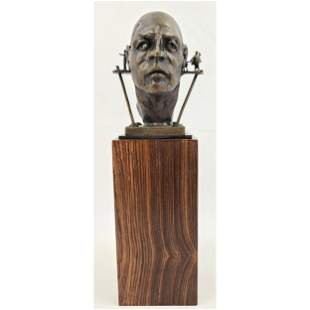 Signed Theodore Gall Bronze Sculpture Listed CA IL