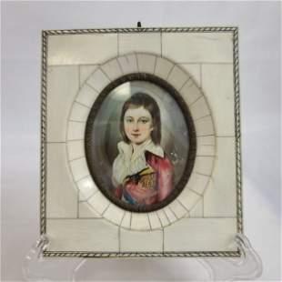 Miniature Louis XVII Painting By RENE